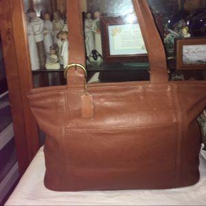 Vintage Coach Leather Tote Shoulder Bag